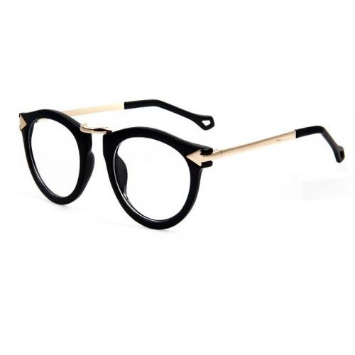 Black Frame Glasses Ragnarok Quest : Unisex Retro Black Frames