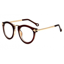 Retro Unisex  Brown Frames