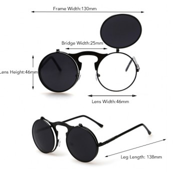 Round Flip Up Retro Glasses