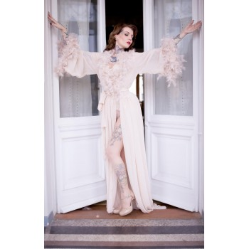 Sexy feathers robe