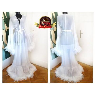 Getting ready wedding robe