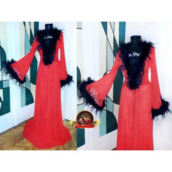 Ostrich Tulle Robe