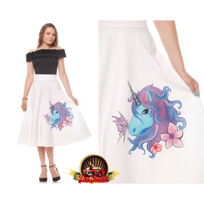 Unicorn hand-painted skirt