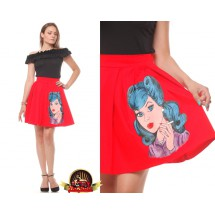 Pop Art  Hand-painted Skirt