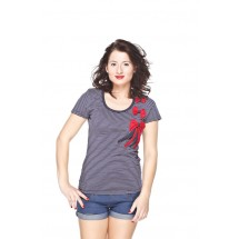 Pin Up 'Navy' T-shirt