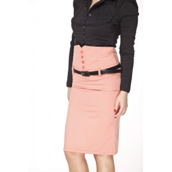 Pin Up 'high waist' skirt - pink
