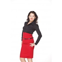Pin Up 'high waist' skirt - red