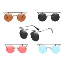 Rimeless Round Sunglasses